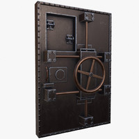 3d model old bunker door