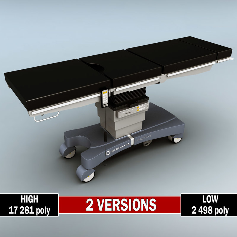 3d operating table polys