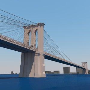 3d model of brooklyn bridge