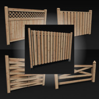 Wooden Fences Pack Vol. 01