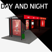 bus stop day night max