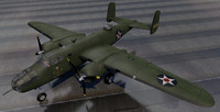 north american b-25b mitchell 3d model