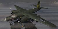 martin b-26c marauder bomber 3d 3ds