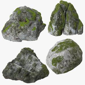 3d boulders