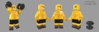 3d lego tough man