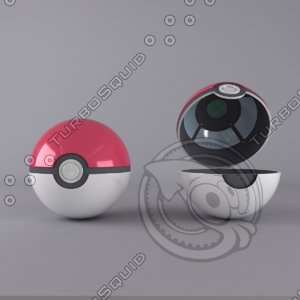 pokeball pokemon original 3d model