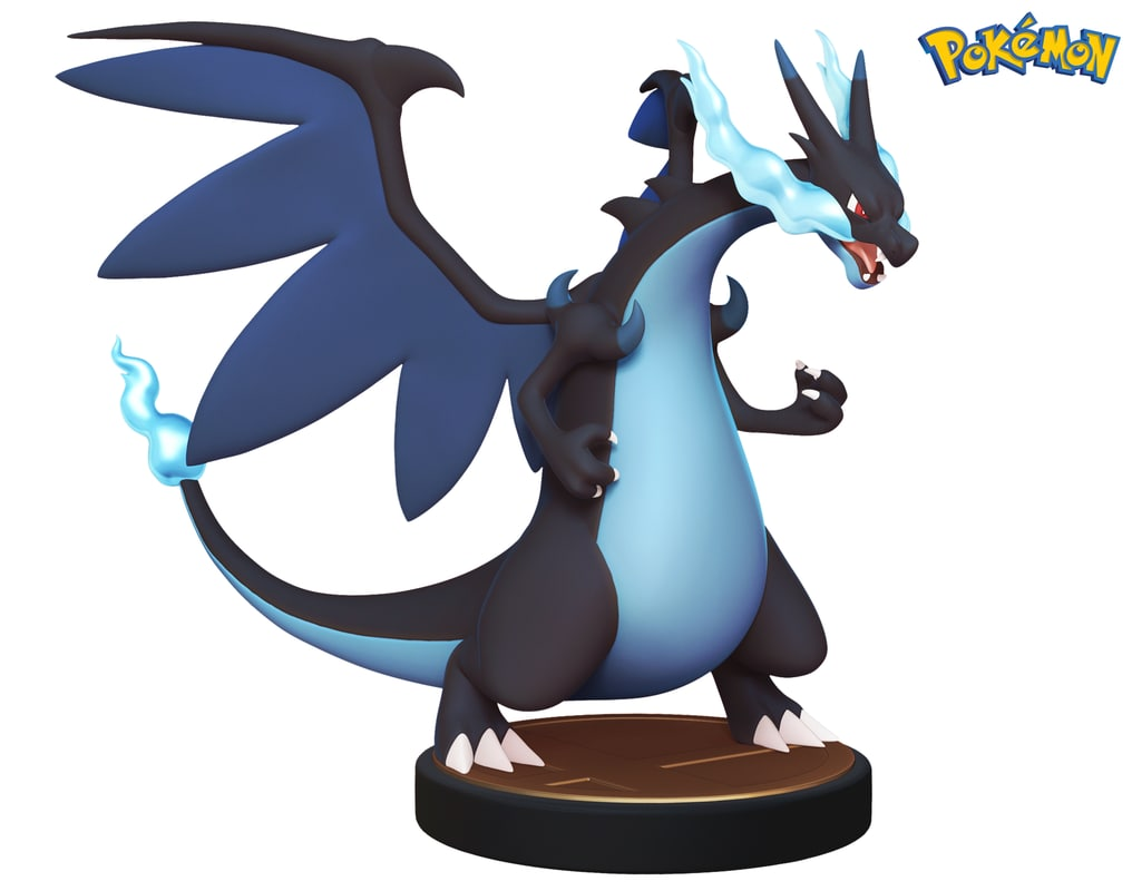 3d pokemon - charizard x