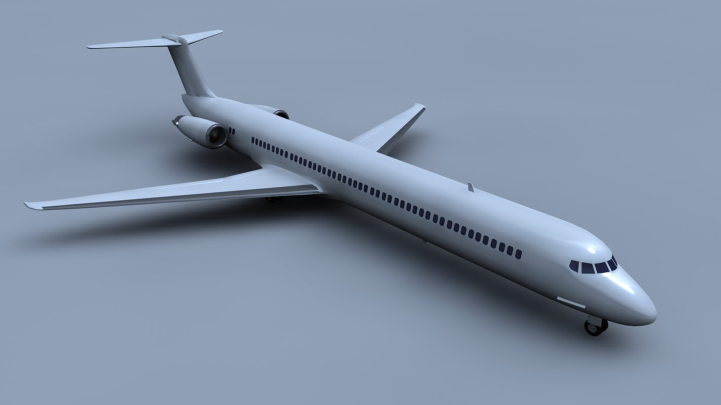 md-80 airliner dxf
