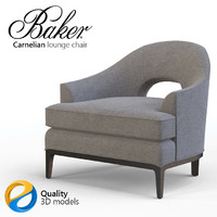 Baker Carnelian lounge chair