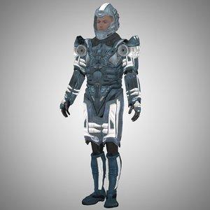 armor sci-fi m4 3d model