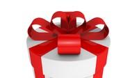 3ds white gift box