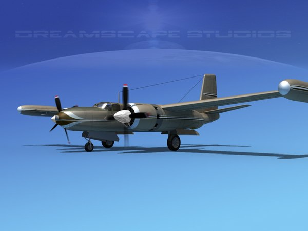propeller mark marketeer b-26 3d model