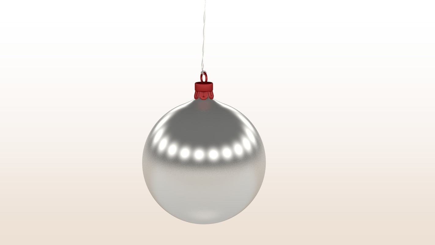 red christmas ball white 3d model