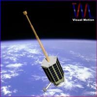 rasad-1 satellite iran 3d model