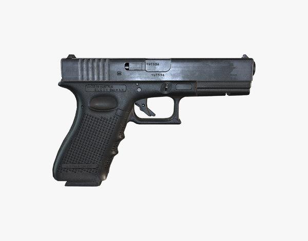 glock 17 3d obj