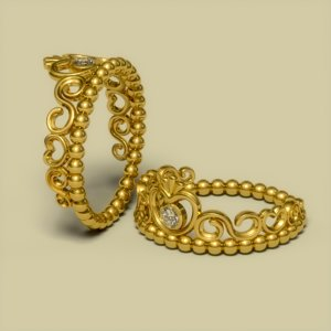 cnc diamond gold 3d 3ds