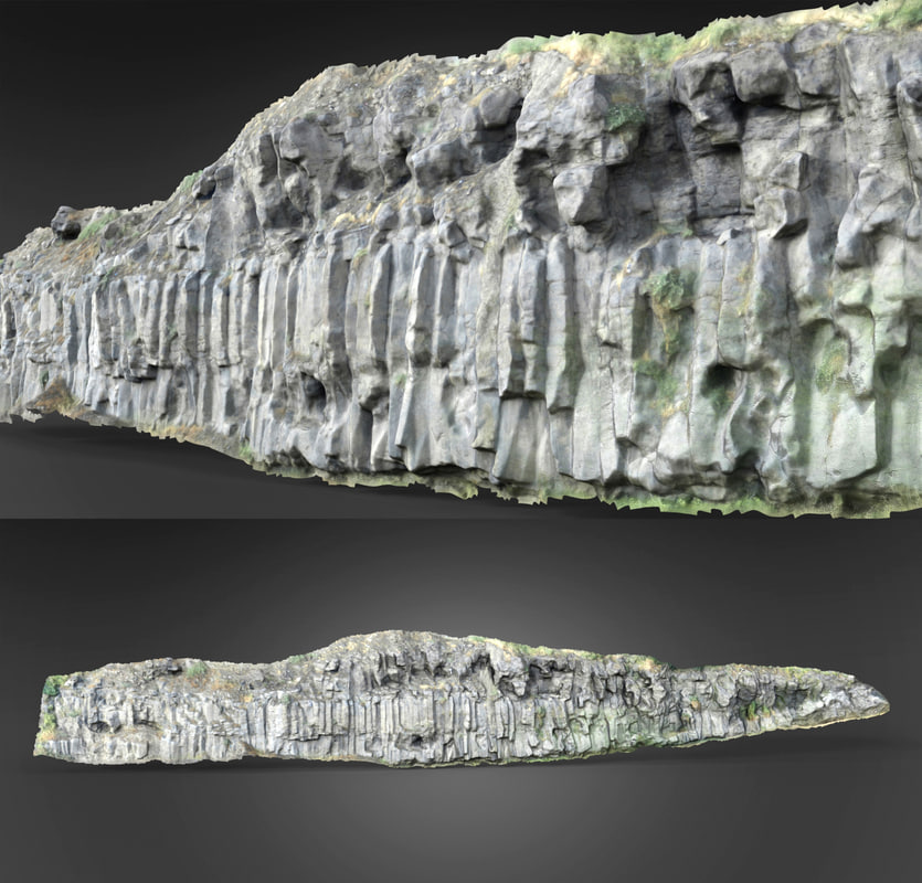 rock scanned 3d model