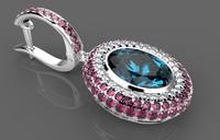 jewelry ring earrings 3d 3ds