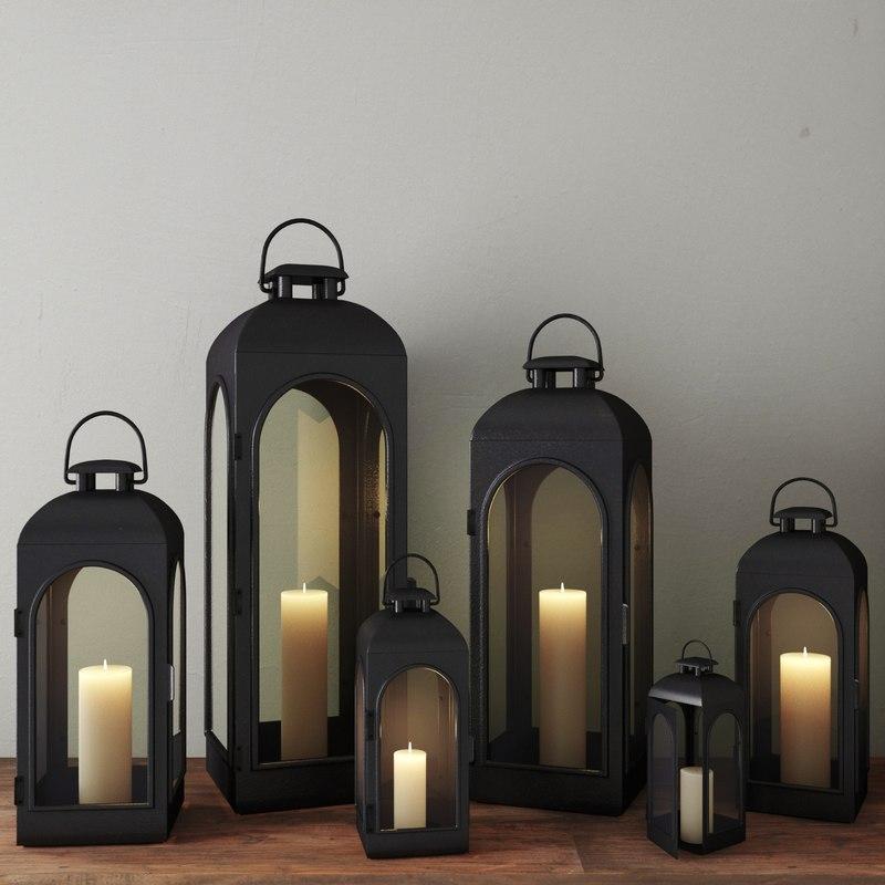 3d model lanterns lights