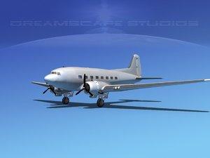 douglas c-47 dakota obj