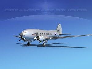 3d douglas c-47 dakota model