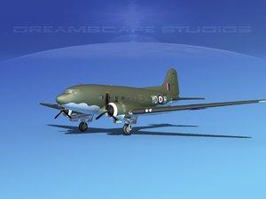 3d model douglas c-47 dakota