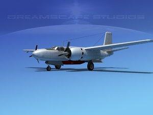 3d model propeller douglas 322