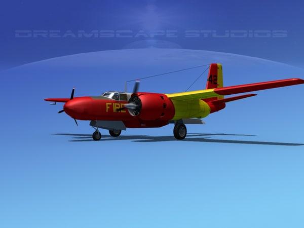 propeller douglas 322 3d model