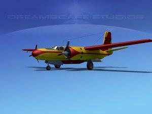 3d propeller douglas 322 model