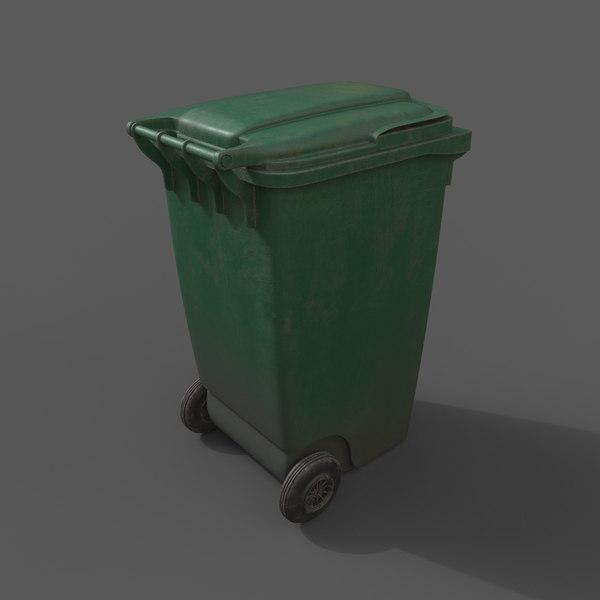 3d model trash bin