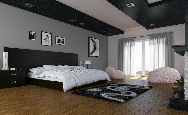 3d max bedroom bed room