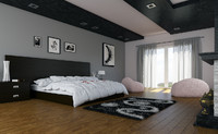 3d max bedroom bed room