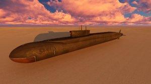 borei submarine class ssbn 3d 3ds