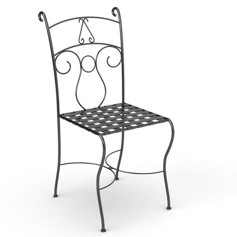 metal chair c4d free