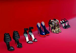 3d model stiletto shoes