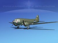 douglas c-47 dakota 3d model