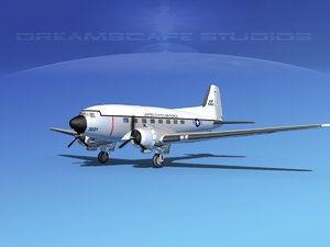 douglas c-47 dakota 3d model