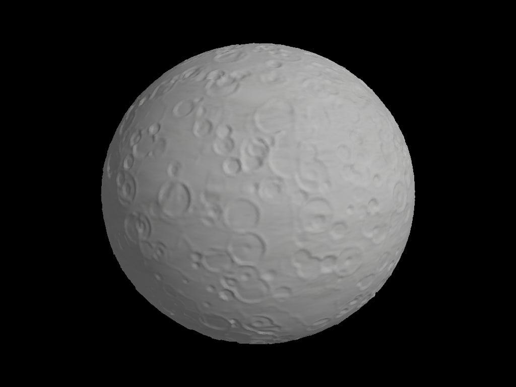 3d generic moon