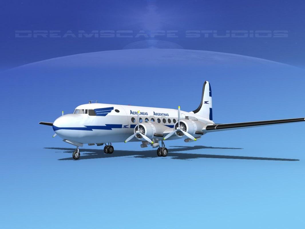 dc-4 propellers gear dwg
