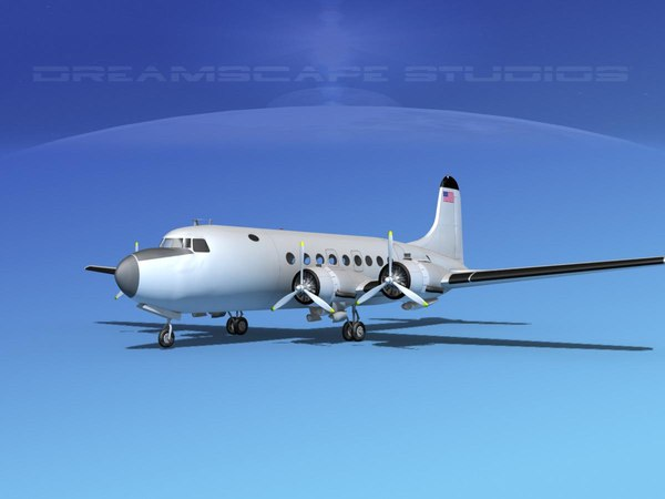 dc-4 propellers gear 3d model