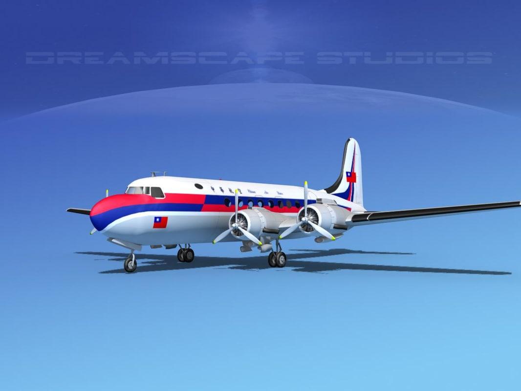 3d max dc-4 propellers gear
