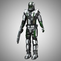 recon trooper figure stand-alone 3d pz3