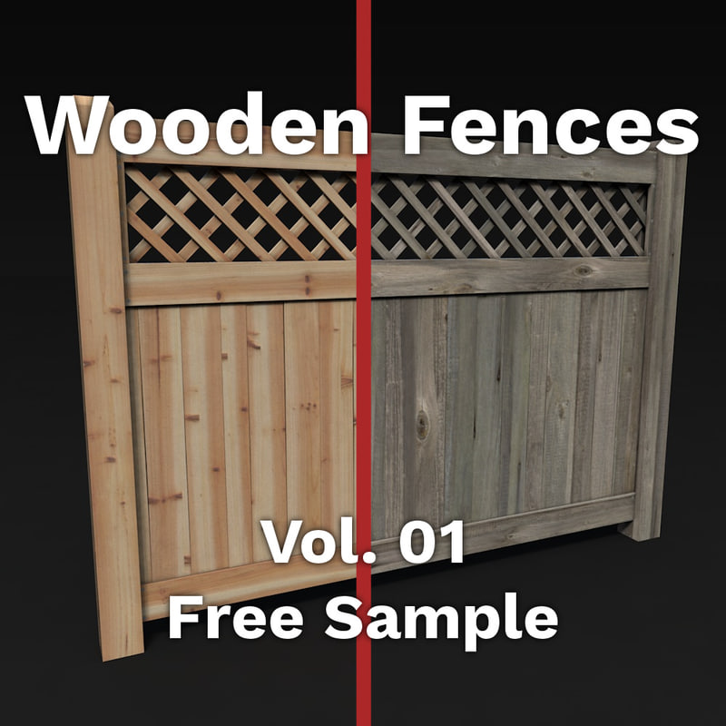 free c4d model wood fences pack vol