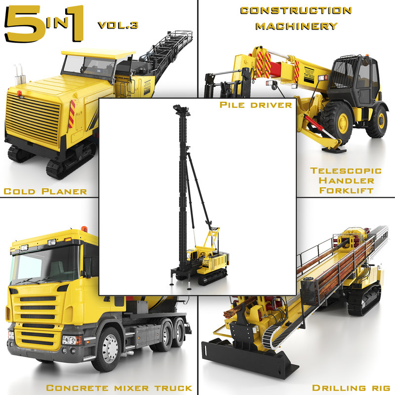 construction machinery 5 1 3d max