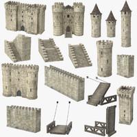 castle set 3d model