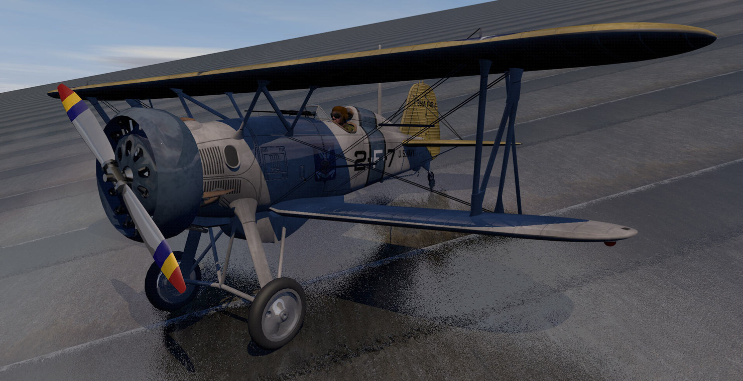 3d american plane aircraft model