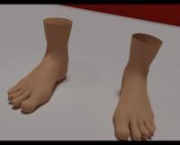 foot nail 3d 3ds