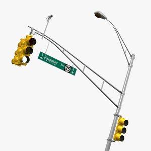 3d new jersey traffic signal model