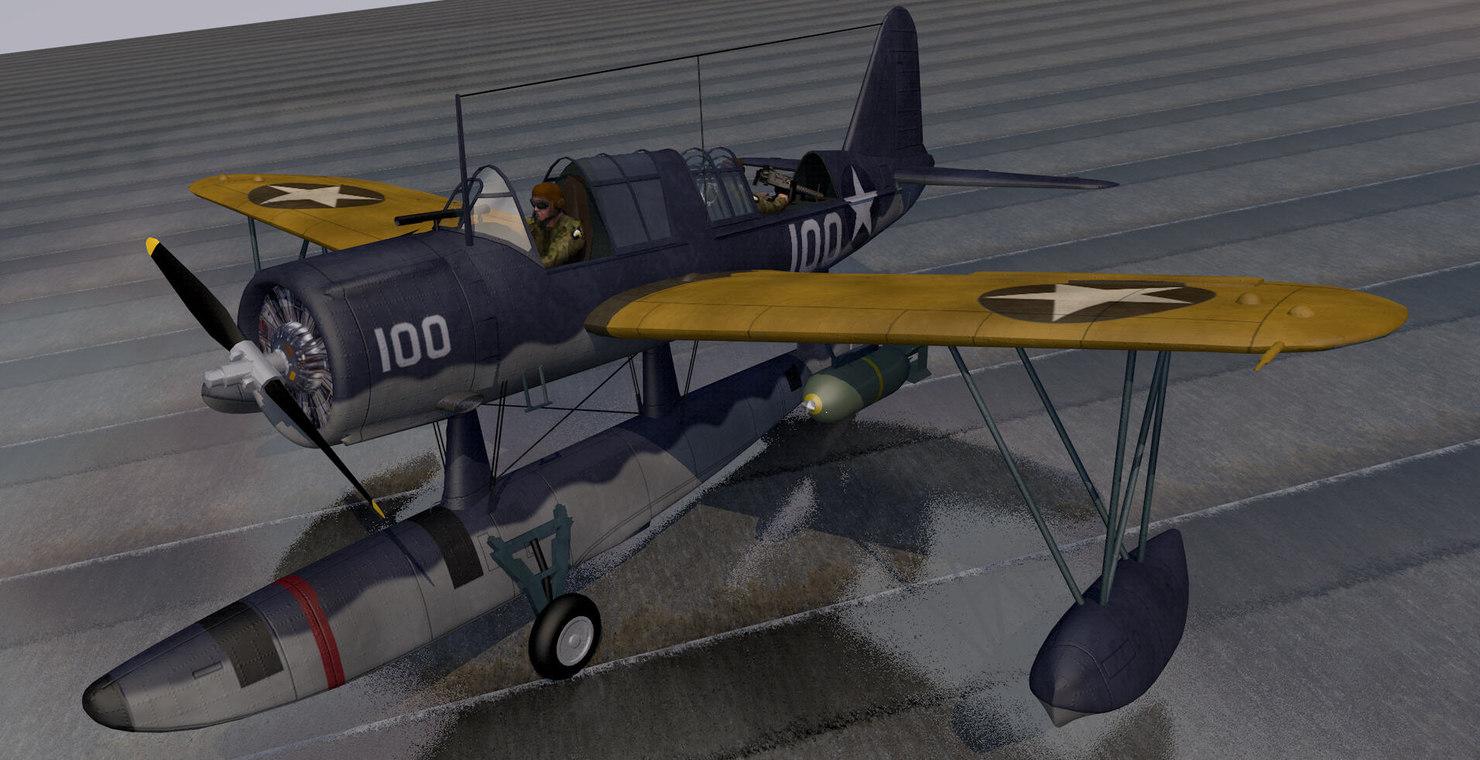 3d vought os2u kingfisher model