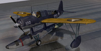 3d vought os2u kingfisher model